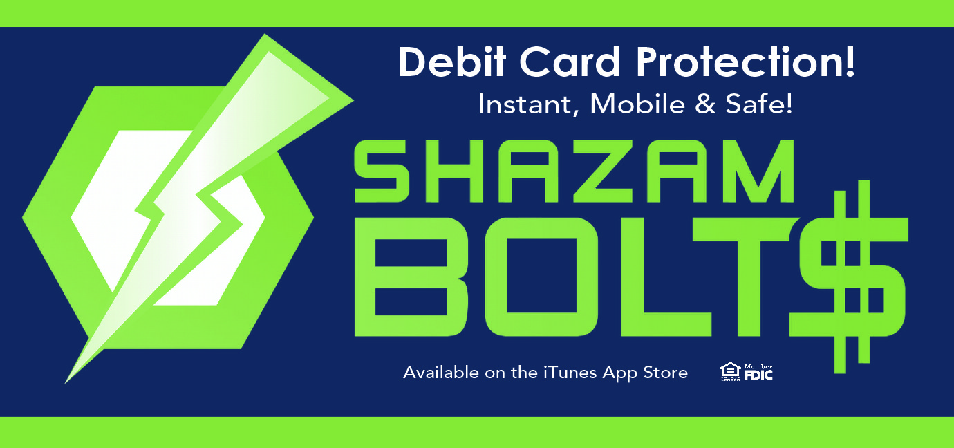 Debit Card Protection - Shazam Bolt$